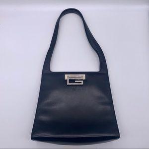Vintage 90s Gucci Black Leather Shoulderbag
